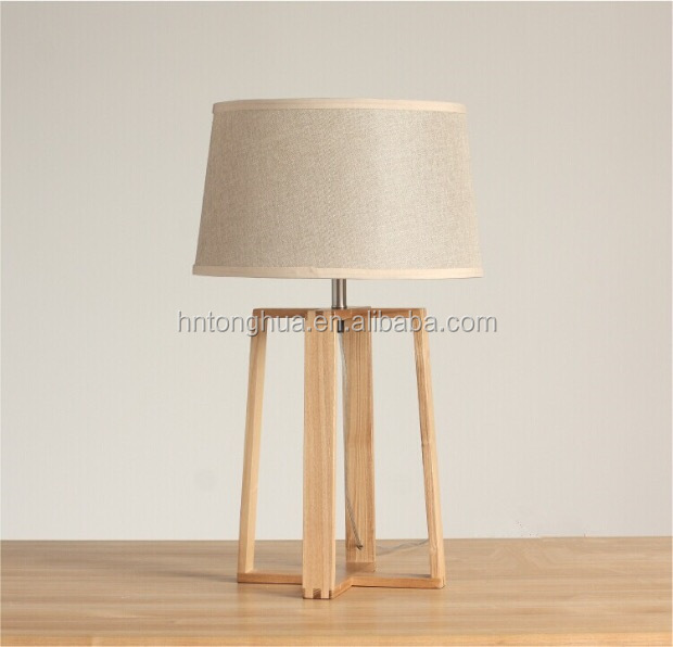 Stylish Wood/Metal Table Lamp with Filament Edison Bulb / LED Light E26/E27