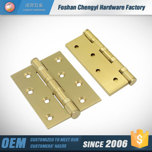 4 inch door hinge brass