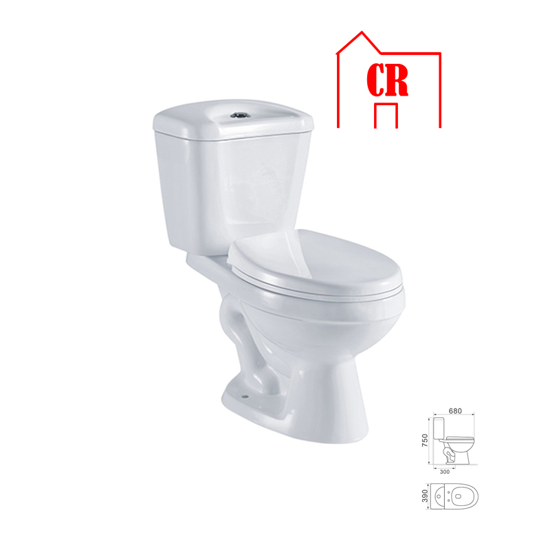 Ceramic sanitary ware siphonic one piece wc S trap bathroom toilets