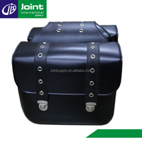 Black Leather Hard Saddle Bags for Motorcycle/Bicycle