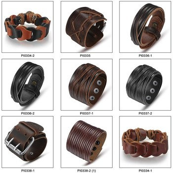 wholesale wrap genuine leather bracelet for boy