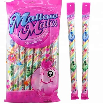 Halal Strawberry Flavored Marshmallow Twists in Individual Package