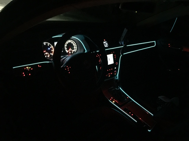 Diameter 2.3mm Size Neon El Wire Novelty Light For Car Boat Interior ...