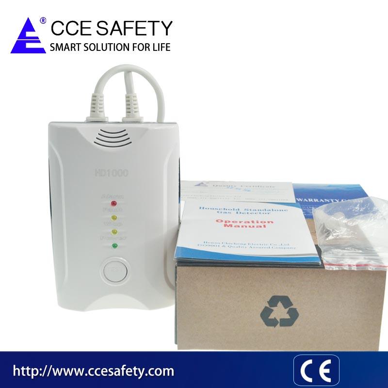OEM ODM Home security loud alarm LPG CH4 CO propane gas leak detector with solenoid valve