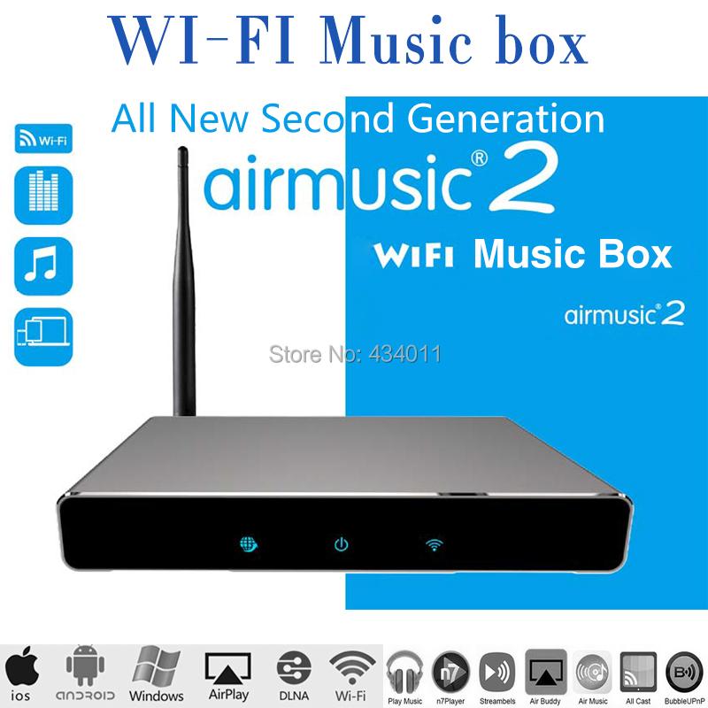 Поколения! Airmusic2 Airmusic 2 WIFI HIFI аудиоприемник dlna-трансляции dlna-плеер ( DMR ) музыка радиоприемник для iOS и Android FLAC обезьяна