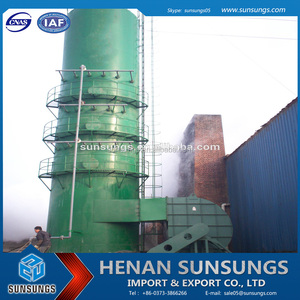 High desulfurization efficiency low operating cost ethylene gas absorber for sulphuric acid plant
