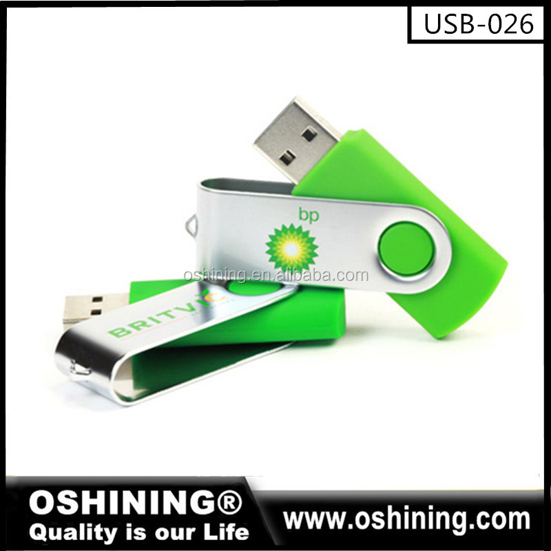Wholesale Plastic Metal Twist USB Flash Drive(USB-026)