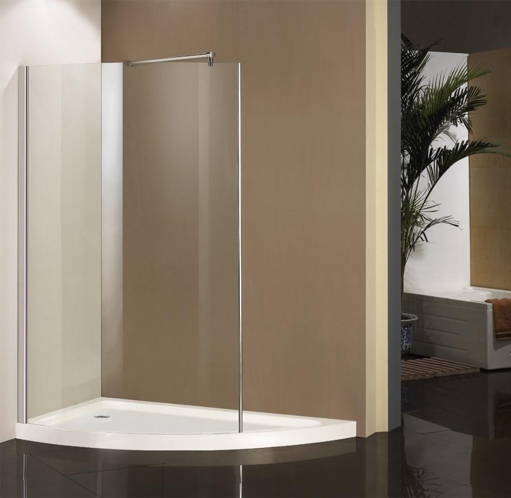 China fabrikant badkamer ontwerp lopen- in bad douche glazen deur ...
