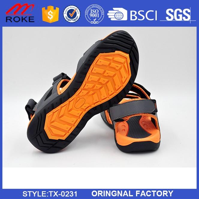 Factory Wholesale Fashion Flat Summer Sandals 2017 For Men