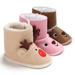 2019 winter Cotton fabric animal cute deer warm indoor infant Walking shoes baby boots