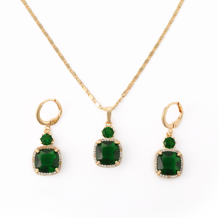 2018 New Arrival Wedding Fashion 18K Gold Jewelry 2017  Set Women Jewellery Designs Photos
