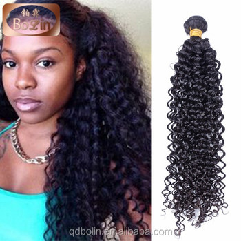 Factory price Mongolian virgin human hair afro curl kinky curl weaving afro hair  extension for black db53a76d9a
