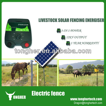portable horses solar electric fence energizer electrical fencing charger for india