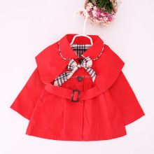 2016 Kids Lovely Outwear Fall baby girls trench coat