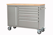 Stainless Steel Rolling Tool Chest, Used Multifunction Workbench Storage Cabinet
