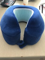 summer use visco elastic memory foam antimicrobial molded neck travel gel cooling pillow