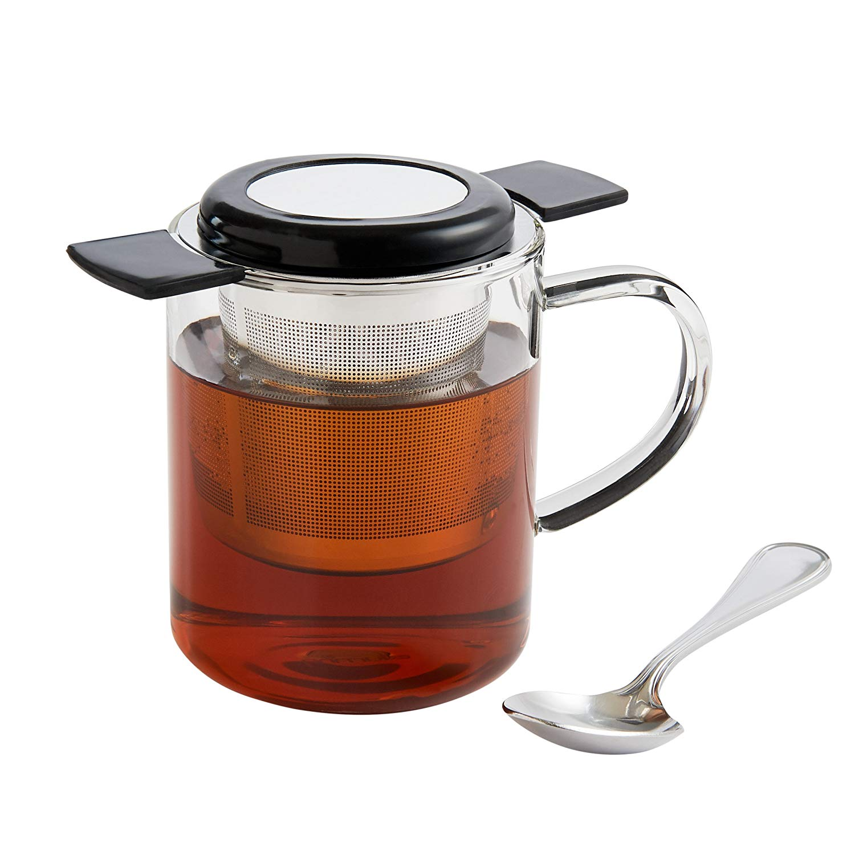 HIC Harold Import Co. 43833 Brew in Mug Tea Infuser, 4 oz, Silver