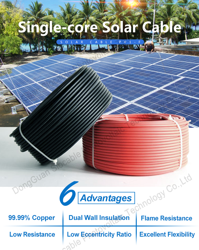 High quality copper wire dual core pv solar cable 2 x 2.5 mm2