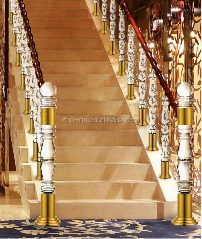 plstico arcylic escaleras claro balaustre de lujo interior claro