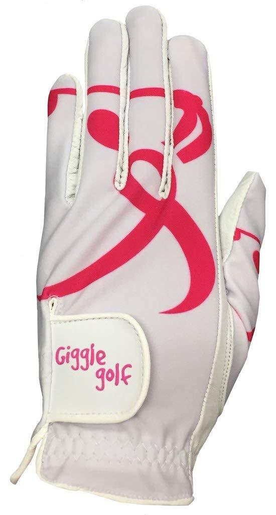Giggle Golf Pink Ribbon Golfer Women's Golf Glove