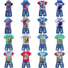 Detská súprava Spiderman – kraťasy a tričko z Aliexpress