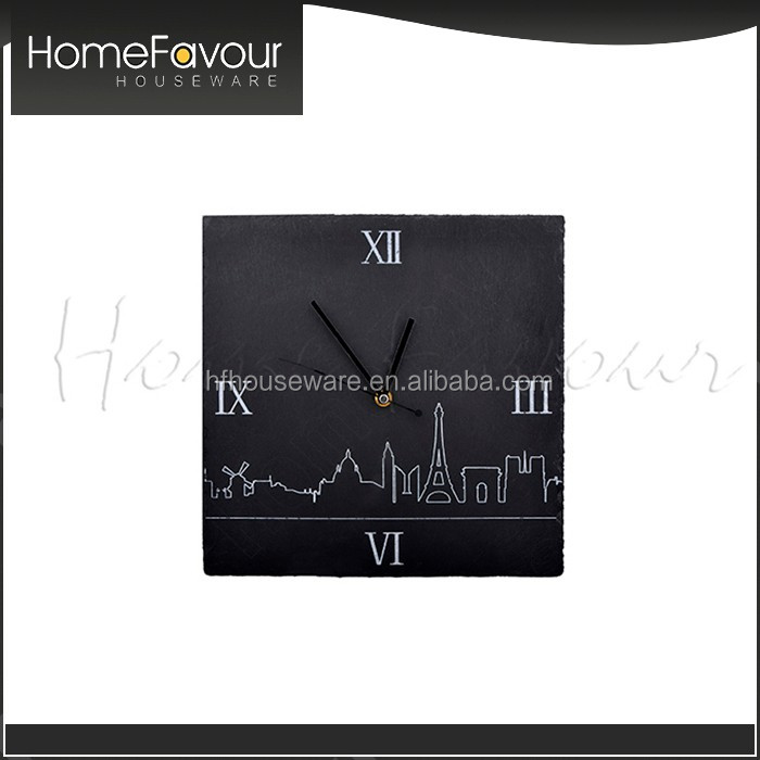 Strict QC Supplier Wholesale Slate Wall Clocks For Bedrooms