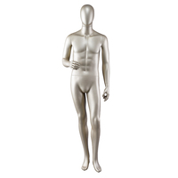 Clothes display gold male mannequin shop fitting display full body fiberglass mannequin