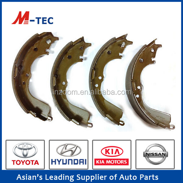 Brake shoe 4707 lining 04495-26190 with high performance for Hiace