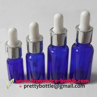 dropper bottle assembly shining coated screw cap and bulb glass bottles (PCBB002)