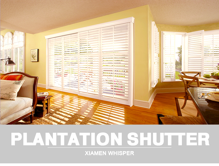 China Supplier Competitive Office Pvc Plantation Shutters