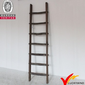 farmhouse vintage handcraft wooden christmas decoration ladder