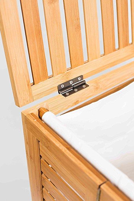 Natual Bamboo Bathroom Foldable Laundry Hamper 7
