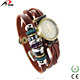 Long leather bracelet wrist girls vintage watches