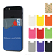 Good Adhesive cell phone customize wallet silicone card cash holder case for iphone