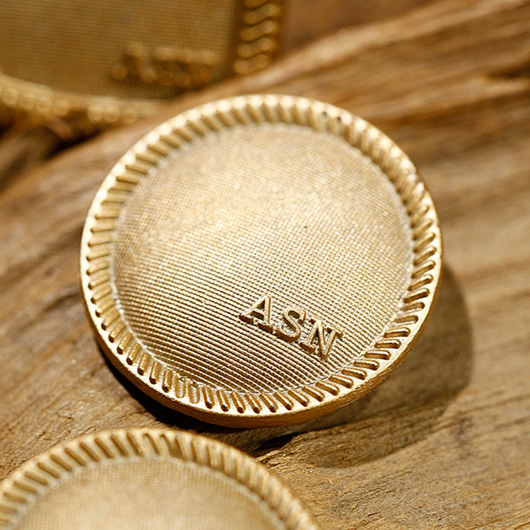 Wholesale Custom Private Brand Name Logo Jeans Metal Button