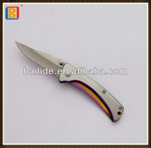 2017 High Quality Stainless Steel Folding Survival Camping Hunting Damascus Knife
