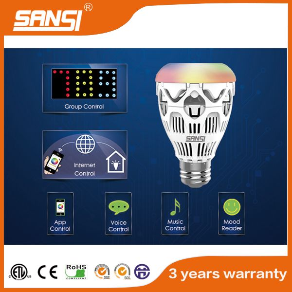 UL approved led light WIFI/Group/Music/APP control RGBW e26 e27 led bulb light