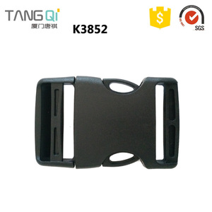 Factory price plastic webbing strap buckle transparent keepers