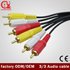 Best Price High Quality Gold Connector 3RCA to 3RCA 3.5mm av out cable