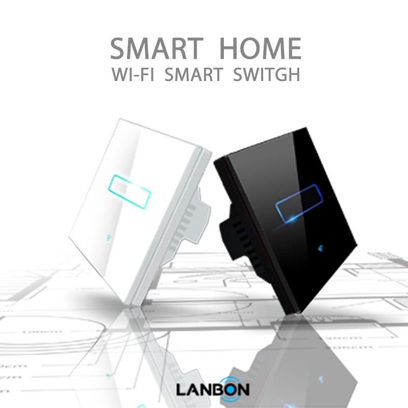 lanbon l6 wifi 2 gang smart switch cn uk us standard wifi. Black Bedroom Furniture Sets. Home Design Ideas