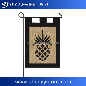 Beautiful to look at burlap garden flag for promotion