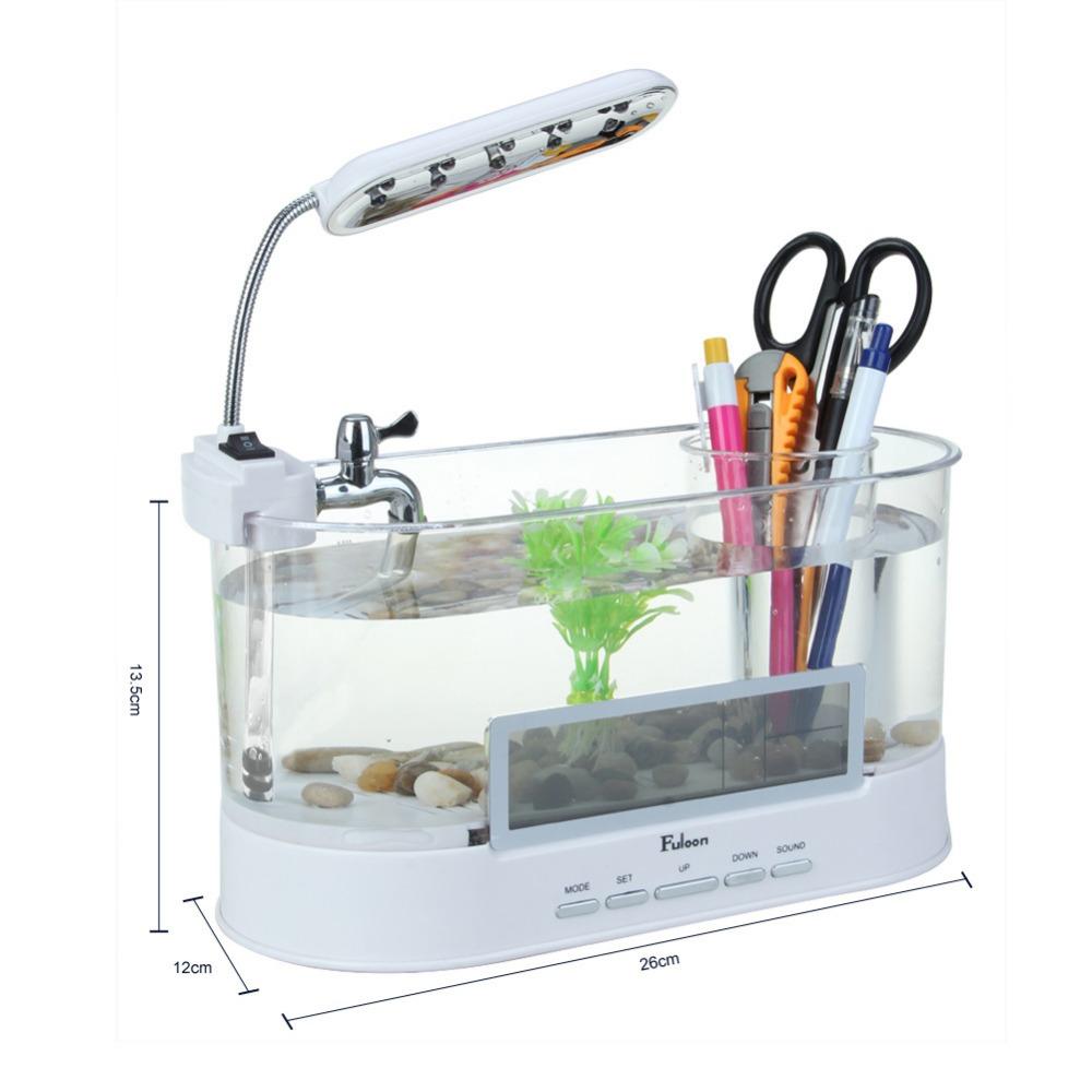 Desk aquarium fish tank - Mini Desktop Aquarium Multifunctional Usb Desktop Aquarium Mini Eco Aquariums Fish Tank