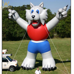 Inflatable Wolf mascot event giant inflatable wolf