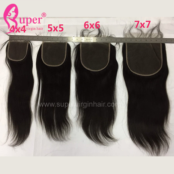 6x6 Straight Lace Closure,Free Part Middle Part Three Parting  Hair Closure Lace Size 6 By 6 With Baby Hair Extensions