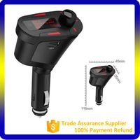 2016 car fm transmitter USB With Car DVD/VCD/MP3/CD Player Car Kit Bluetooth