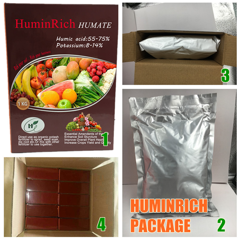 Huminrich Stimulate Root Hair Development Agricultural Fertilizers Soluble Humic Or Potassium Humane