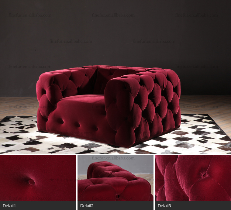 Sgs Standard Luxury Furniture One Seat Red Velvet Tufted Sofa - Buy Velvet  Sofa,Luxury Velvet Sofa,Red Velvet Sofa Product on Alibaba.com