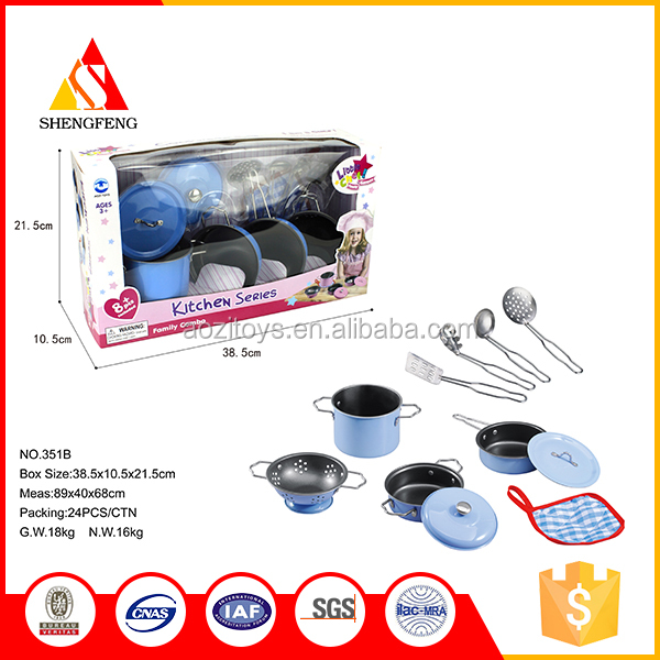 24 PCS Child stainless steel cooking mini kitchen set toy