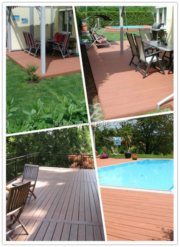 Waterproof WPC Outdoor Deck Floor Covering/wood Plastic Patio Floors,  Plastic Wood Plank Flooring