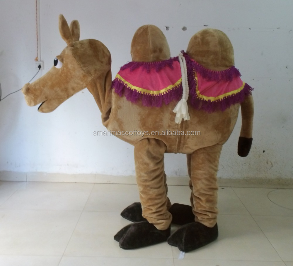 Fur costumes 2 person camel mascot costume adult 2 person camel costume